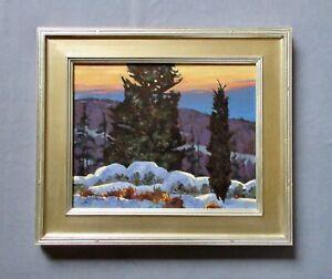 "John Loughlin (1931-2004) ""White Mountains New Hampshire"" Oil Landscape Painting"