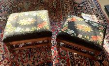 Identical Pair Of Victorian Mahogany Footstools