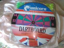 Unicorn Dartboard Set 17 Inch With Steel Tip Darts Two Sided