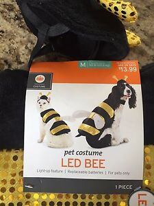 """Pet Costume """"LED Bee"""" Halloween Medium pets up to 50lbs Dogs or Cats"""