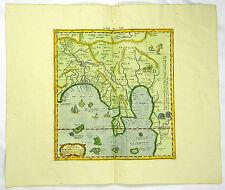 INDIEN GANGES BANGLADESCH KUPFERSTICH KARTE MAP PTOLEMAEUS MERCATOR 1730 #D180WS