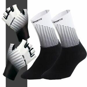 Cycling Gloves Half Finger and Socks Set Men Women Bike Bicycle Sports Racing
