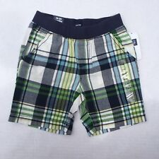 Gap Shorts Pull On Plaid Cotton Baby Elastic Waist Sz 18 24 Months Blue Green