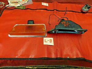 Triumph TR6, Lucas Rt Front Parking & Turn Signal Light w/ Chrome Trim, Original