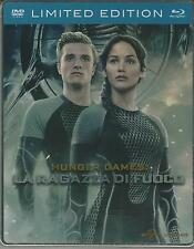 HUNGER GAMES LA RAGAZZA DI FUOCO  (blu-ray + dvd) STEELBOOK
