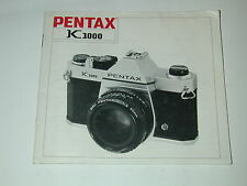 notice PENTAX K1000  photo photographie en ANGLAIS