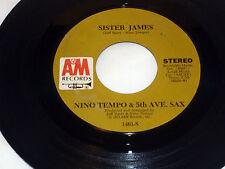 Nino Tempo & 5th Avenue Sax:  Sister James / Claire De Lune  [M- Copy]