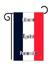 "France (13"" x 18"" Approx) Garden Size Flag -7 Tg 58089"