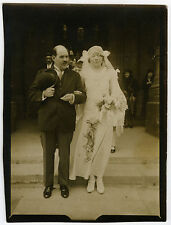PHOTO ANCIENNE - MARIAGE RELIGION YEUX FERMÉS - EYES CLOSED - Vintage Snapshot
