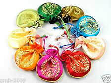 10PCS CHINESE HANDMADE SILK WEALTH JEWELRY BAG GIFT BAG PURSE WALLET POUCHES