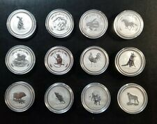 1999-2010 Australia Lunar Series I 1 Oz Collection Set 12 BU Silver Complete