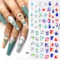 3D Nail Stickers Markable Patterns Nail Art Decals Beautiful Transfer Paper Tips