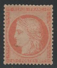 """FRANCE STAMP TIMBRE N° 38 """" CERES 40c ORANGE FONCE 1875 """" NEUF x TB K409"""