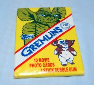 1984 Topps Gremlin Movie Cards & Bubble Gum Sealed New