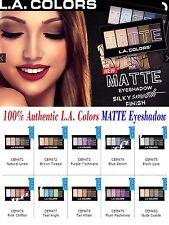 L.A. Colors MATTE Eyeshadow palettes - Naturals & Bolds Colors- 100% Authentic