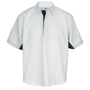 SPORTS CLUB -  MENS DRILL SHIRTS  CONTRAST SLEEVES & SIDE PANEL RUGBY SHIRT