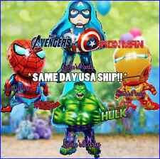 Hulk Captain America Iron Man Avengers Hero Balloon Super Heroes spiderman party