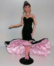 Audrey Hepburn Barbie Doll BLACK & PINK Tango Dress Celebrity Redress OOAK