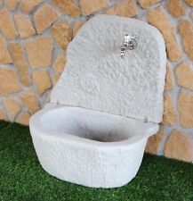 BONFANTE Fontana Fontanella da muro pietra ricostruita LAVELLO FOSSILE Grigio
