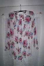 Markenlose Geblümte figurbetonte Damenblusen, - tops & -shirts