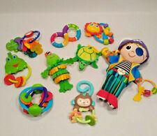 Lot of Baby Toys Developmental Teething Rattles Hanging Plush Lamaze & Others