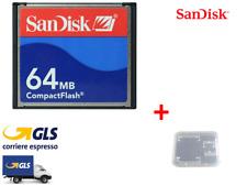 COMPACT FLASH SANDISK 64 MB SCHEDA DI MEMORIA CF MEMORY CARD SDCFB