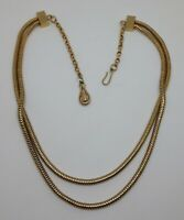 Beautiful Vintage Gold Tone Snake Chain Costume necklace
