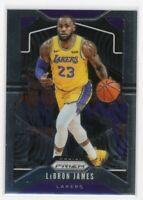 2019 Panini Prizm Basketball #129 LeBron James 1st Lakers prizm card