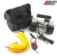 Double Cylinder 12v Car Air Compressor 150PSI Tyre Inflator Pump 55L/Min UK NEW