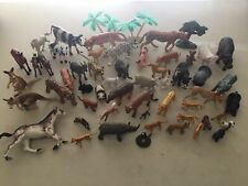 Lot Of 55 Wild Animal Figures Figurines Random Sizes Breeds And Makers