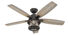 "Hunter 52"" Indoor/Outdoor Ceiling Fan Remote Control Coral Bay Bronze 59420"
