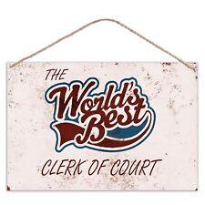 The Worlds Mejor Clerk de Zapato elegante - estilo vintage metal grande