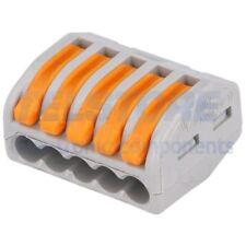 2 pcs 222-415 Morsetto connettore rapido per installazioni 222 PIN 5 32A WAGO
