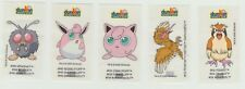 Dunkin Pokemon wrap around bubble chewing gum 2000 stickers x 5 incl Jigglypuff