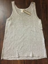 Matty M Womens Sequin Knit Stretch Tank Top Shirt Brand New w/ Tags Sz Medium