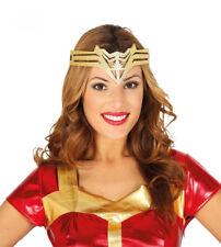 Wonder Woman Headband Tiara Crown Gold Superhero Fancy Dress Halloween Womens