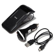 Hands Free Wireless Multipoint Bluetooth Car Kit Speakerphone Speaker Visor Clip