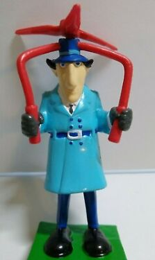 Inspector Gadget Whirlybird Toy Figure Cake Topper Plastic Flexible 1992 NOS