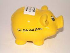 Ceramic Pig Piggy Bank Yellow - Für Sekr statt Selters