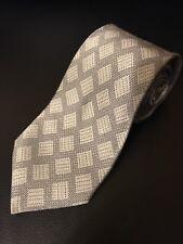 Giorgio Armani 100% Silk Neck Tie Gray/Silver Check Design
