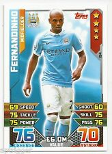 2015 / 2016 EPL Match Attax Base Card (154) Fernandinho Manchester City