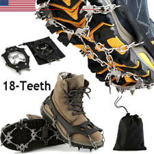 New listing Ice Snow Grips Anti Slip On Over shoe Boot Studs Crampons Cleats Spikes GripperL