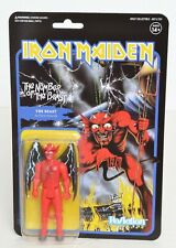 """Iron Maiden NUMBER OF THE BEAST Super 7 ReAction 3.75"""" Figure NEW The Beast"""