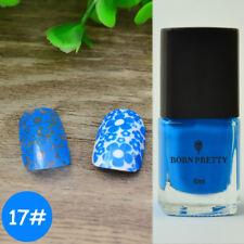 6ml Blue Nail Art Stamping Polish  Stamp Varnish Born Pretty #17