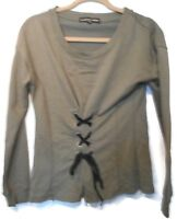 Women's Almost Famous Green Long Sleeve Knit Top Size Medium NWOT