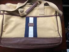 Mint TOMMY HILFIGER Laptop Messenger Bag Portfolio Briefcase Canvas Leather Rare