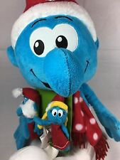 "Macy's Smurf Plush Doll 2010 21"" with 2 Smurf Finger Pals"