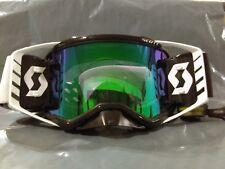 2018 Scott Prospect Negro,blanco cromo compatible Lente Gafas de motocross racer