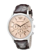 NEW EMPORIO ARMANI AR2433 MENS BROWN WATCH - 2 YEARS WARRANTY - CERTIFICATE