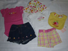 GYMBOREE Berry Sweet Girls 3-6 Month Shorts Bodysuits Bib Hat Outfit NWT